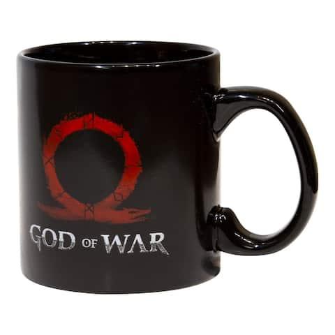 God of War Kratos & Son Ceramic Coffee & Tea Mug 20 oz Coffee Mug - Black