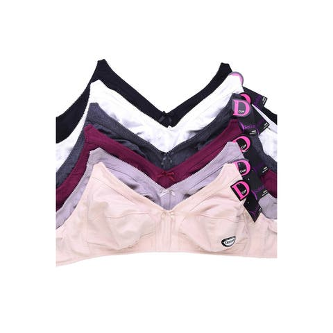 6-PACK Sofra Women's Intimate Sets Wire Free Bra - Style BR1541N