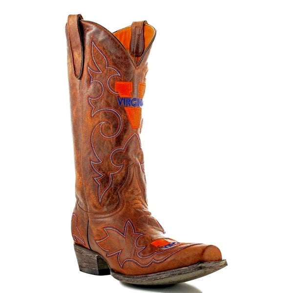 Gameday Boots Mens College Team Virginia Cavaliers Brass