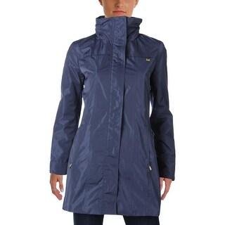 Ellen Tracy Womens Coat Lightweight Water Repellent