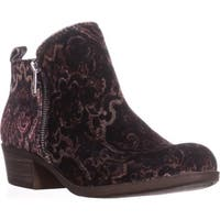 Lucky Brand Basel Side Zip Ankle Boots, Black Multi Paisly