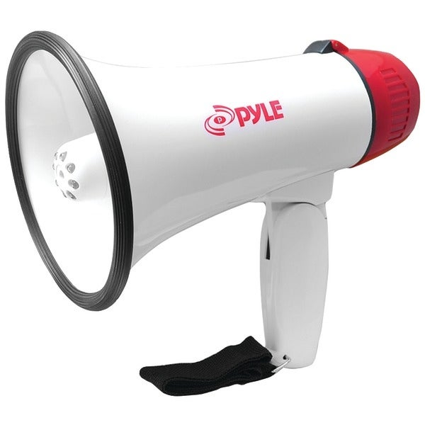 PYLE PRO PMP37LED Mini Compact Megaphone Bullhorn with Siren Alarm & LED Lights