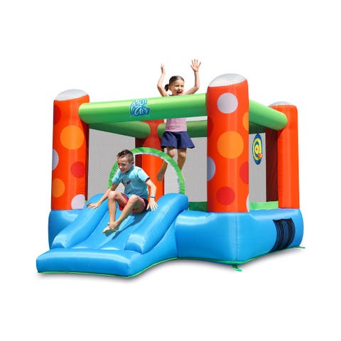 Action Air Inflatable Bounce House with Slide and Air Blower