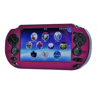 MonopricePlayStation Vita Brushed Aluminum Clamshell Protective Case - Fuschia