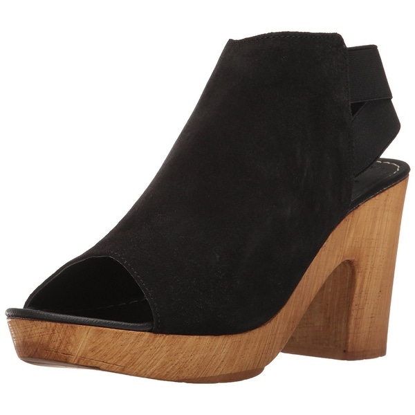 Kenneth Cole Reaction Womens Log Line Suede Peep Toe Knee High Fashion Boots