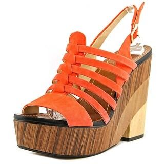 Vince Camuto Onia Women Orange Wedge Sandal