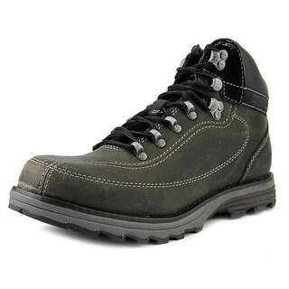Caterpillar Highbury Men  Round Toe Leather Black Boot