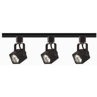 Nuvo Lighting TK346 Three Light MR16 Square 120V Track Kit - Black