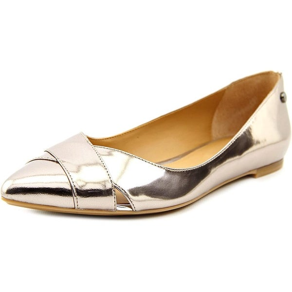 Calvin Klein Gailia Pointed Toe Patent Leather Flats