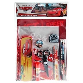 Cars 11pc Value Pack with Plastic Pencil Case