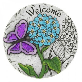 Set of 6 Purple Butterfly Welcome Garden Stepping Stones
