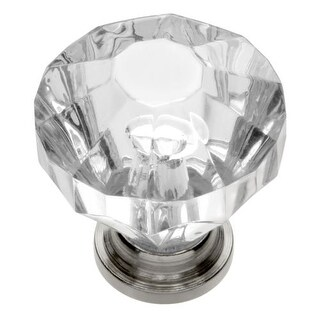 Hickory Hardware HH74689 Crystal Palace 1-1/4 Inch Diameter Geometric Cabinet Knob