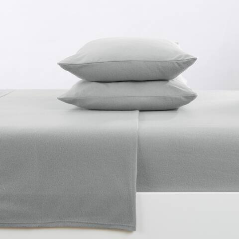 Great Bay Home Super Soft Extra Plush Solid Fleece Sheet Set