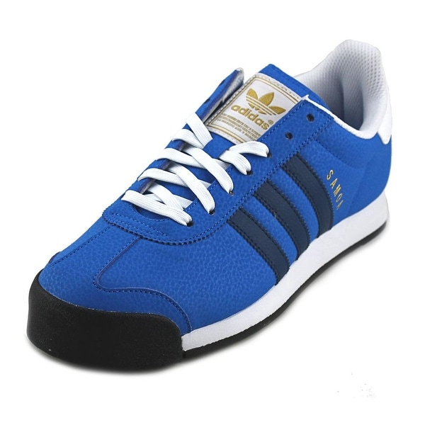 b1a0622f7173 Shop Adidas Samoa Men Round Toe Leather Blue Sneakers - Free ...