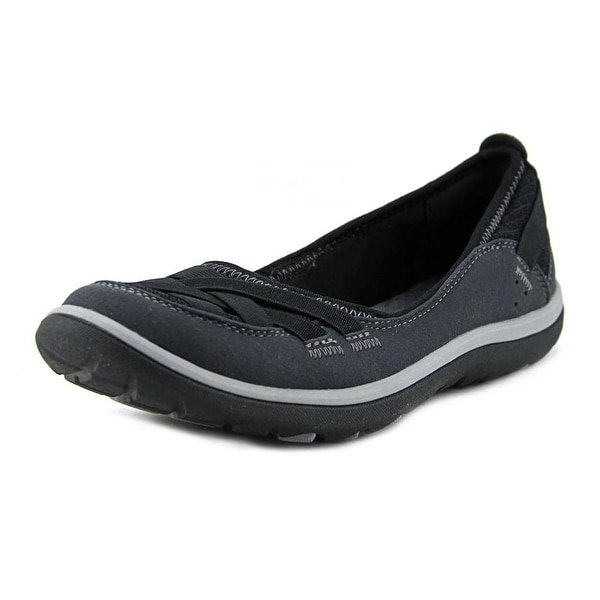 Clarks Aria Pump Women W Round Toe Canvas Black Flats
