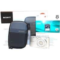 Sony Cybershot DSC-W830 20.1 Megapixel Digital Camera Bundle - 8x (Refurbished)