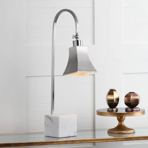 "Safavieh Lighting 26-inch Charley Marble Desk Lamp (Set of 2) - 10.5""x5""x26"""