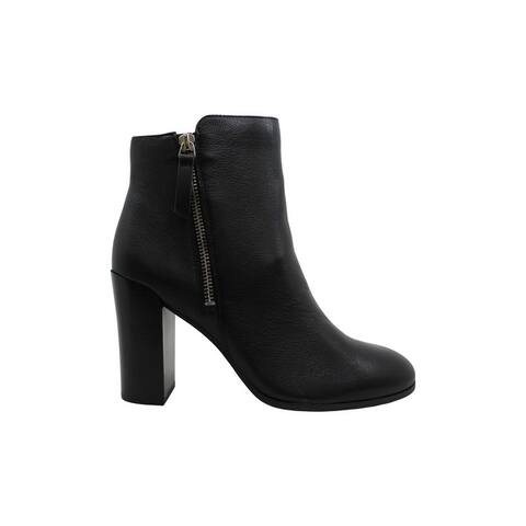 Kenneth Cole New York Women's Shoes Justin zip bootie Leather Closed Toe Ankl...