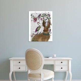 Easy Art Prints Fab Funky's 'Hare Birdkeeper and Heron' Premium Canvas Art