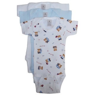 Bambini Baby Boys Multi Color Printed Variety 3-Pack Bodysuits
