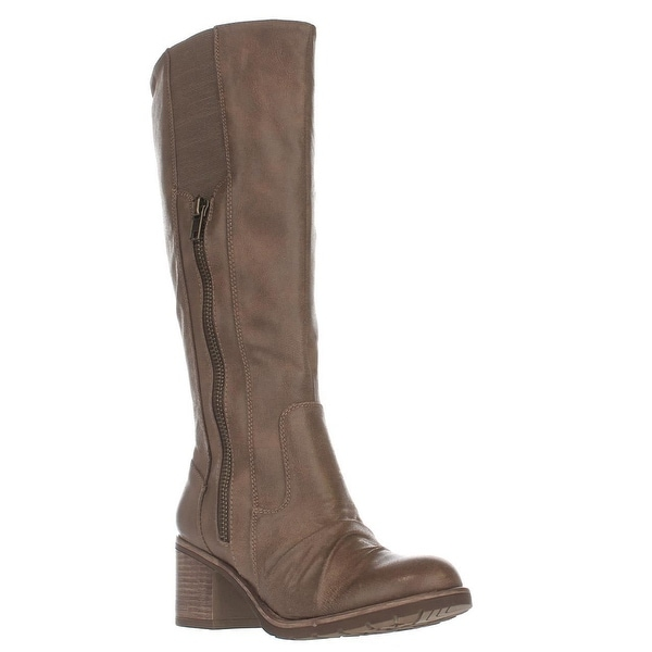BareTraps Dallia Scrunch Toe Riding Boots, Mushroom