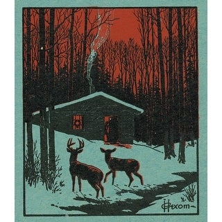 Nature Magazine Deer in the Forest Vintage Cover (Art Print - Multiple Sizes)