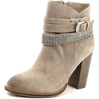 Chinese Laundry Zanga Women Round Toe Suede Gray Ankle Boot