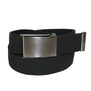 CTM® Men's Web Money Belt with Military Buckle - One size