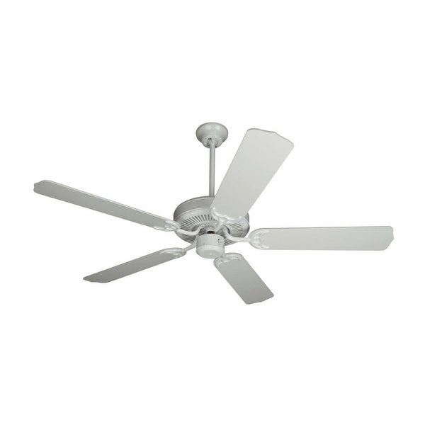 """Craftmade K10621 Contractor's Design 52"""" 5 Blade Energy Star Indoor Ceiling Fan - Blades Included - White"""