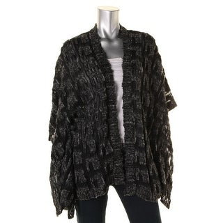 Anna Sui Womens Wool Open Front Cardigan Sweater