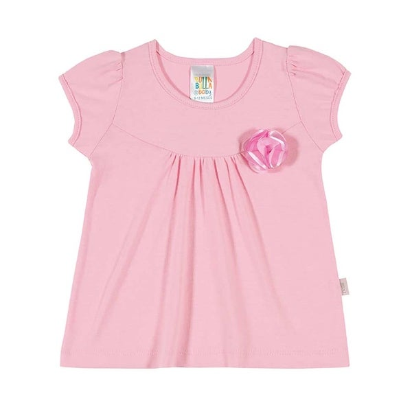Baby Girl Shirt Infant Solid Pleated Top Pulla Bulla Sizes 3-12 Months
