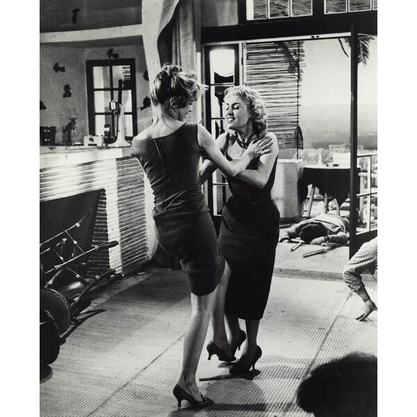 3d40ee766f7 Film still featuring Brigitte Bardot fighting in La Parisienne Photo Print