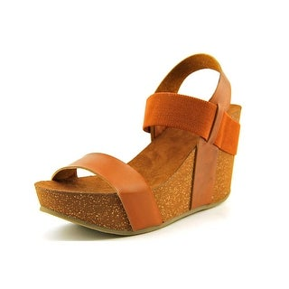 Mia Java Open Toe Synthetic Wedge Sandal