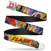 Flash Logo Full Color Red White Yellow Classic Flash Comics Issue #1 Seatbelt Belt