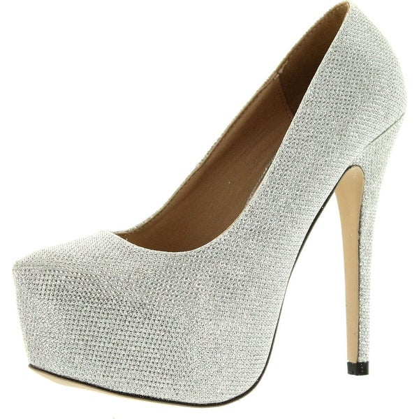 Eye Candie Womens Celine-81 Classic Dress Platform Pumps