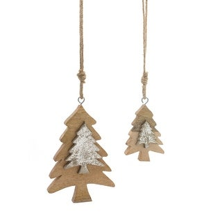 """Link to Set of 12 Beige and Silver Tree Ornament 8"""" Similar Items in Christmas Decorations"""