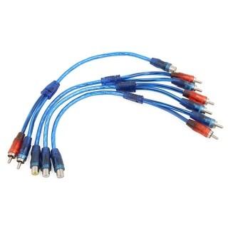 Unique Bargains 4 Pcs RCA Female to Dual Male Connector Video Audio Y Splitter Extension Cable
