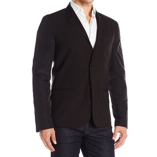 Kenneth Cole Reaction NEW Black Men Large L Full-Zip Two-Button Jacket
