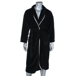 Nautica Mens Fleece Contrast Trim Long Robe - o/s