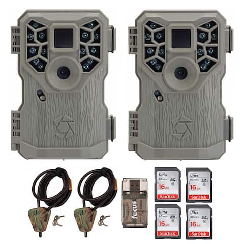 Stealth Cam 10MP Trail Game Camera (2) with Cable and 16GB Card Bundle