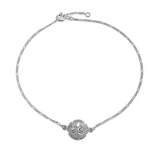 Bling Jewelry Nautical Sterling Silver Antique Style Sand Dollar Anklet|https://ak1.ostkcdn.com/images/products/is/images/direct/9450f2d7f9d46307669ea8408ffa9b9ea15e68d6/Bling-Jewelry-Nautical-Sterling-Silver-Antique-Style-Sand-Dollar-Anklet.jpg?impolicy=medium