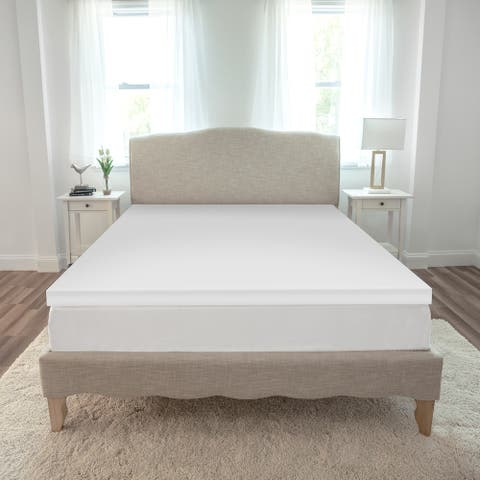 SensorPEDIC Essentials 2-Inch Memory Foam Mattress Topper - White