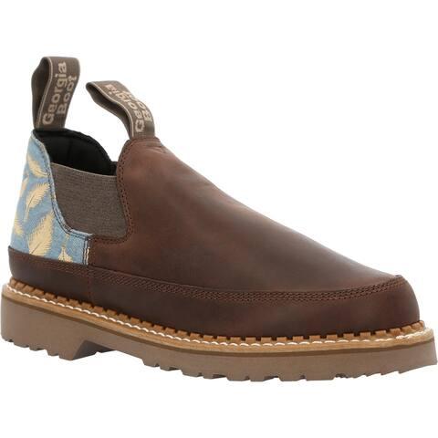 #GB00463, Georgia Boot Women's Brown and Feather Romeo Shoe