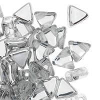 Czech Glass Kheops par Puca, 2-Hole Triangle Beads 6mm, 9 Grams, Crystal CAL