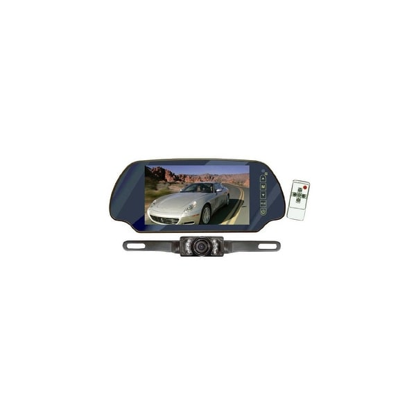 pyle audio CL3956B Pyle PLCM7200 7- Inch TFT Mirror Monitor with Rearview Night Vision Camera