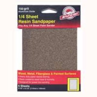 Gator 5031 Multi-Purpose Sandpaper 1/4 Sheet, 150 Grit