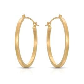 MCS JEWELRY INC 14 KARAT YELLOW GOLD 24MM CLASSIC HOOP EARRINGS