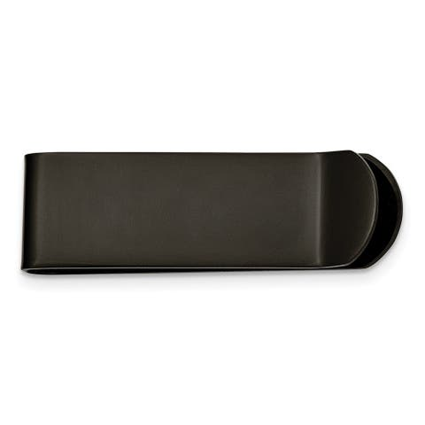 Chisel Srm114 Stainless Steel Brushed Black Ip-Plated Money Clip