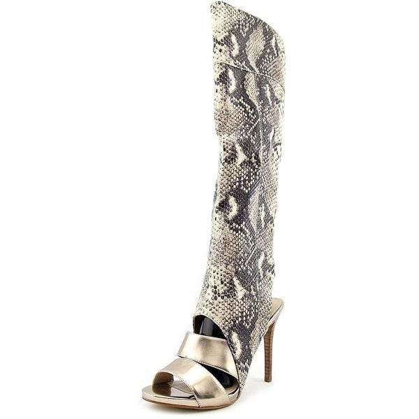 GUESS Womens CONDOLAN3 Fabric Open Toe Knee High Fashion Boots