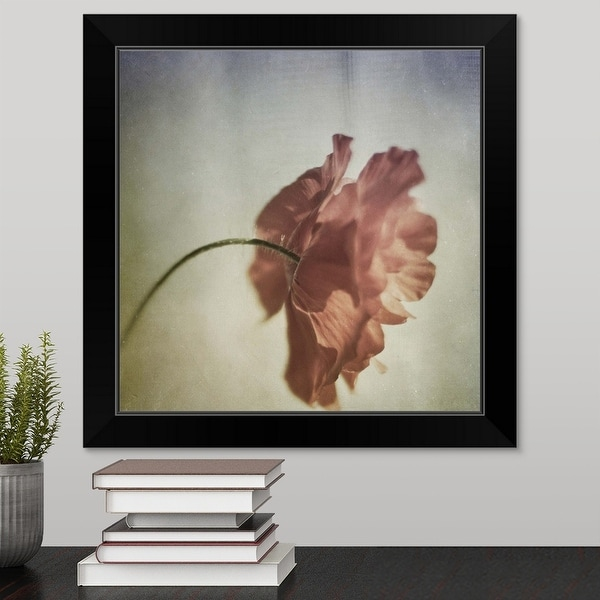"""Poppy"" Black Framed Print"